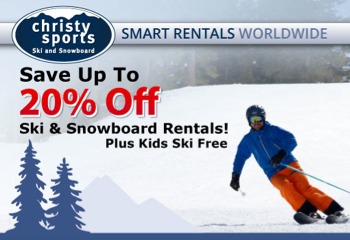 Save 20% off Ski & Snowboard Rentals
