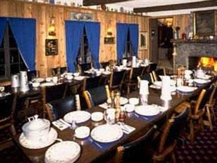 timber house ski lodge dining