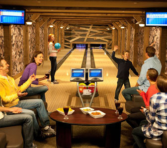 one ski hill bowling alley