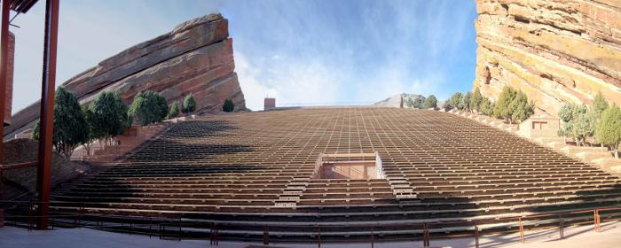 red rocks denver panorama