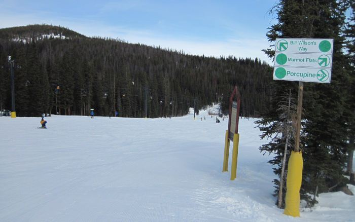 winter park beginner ski trails